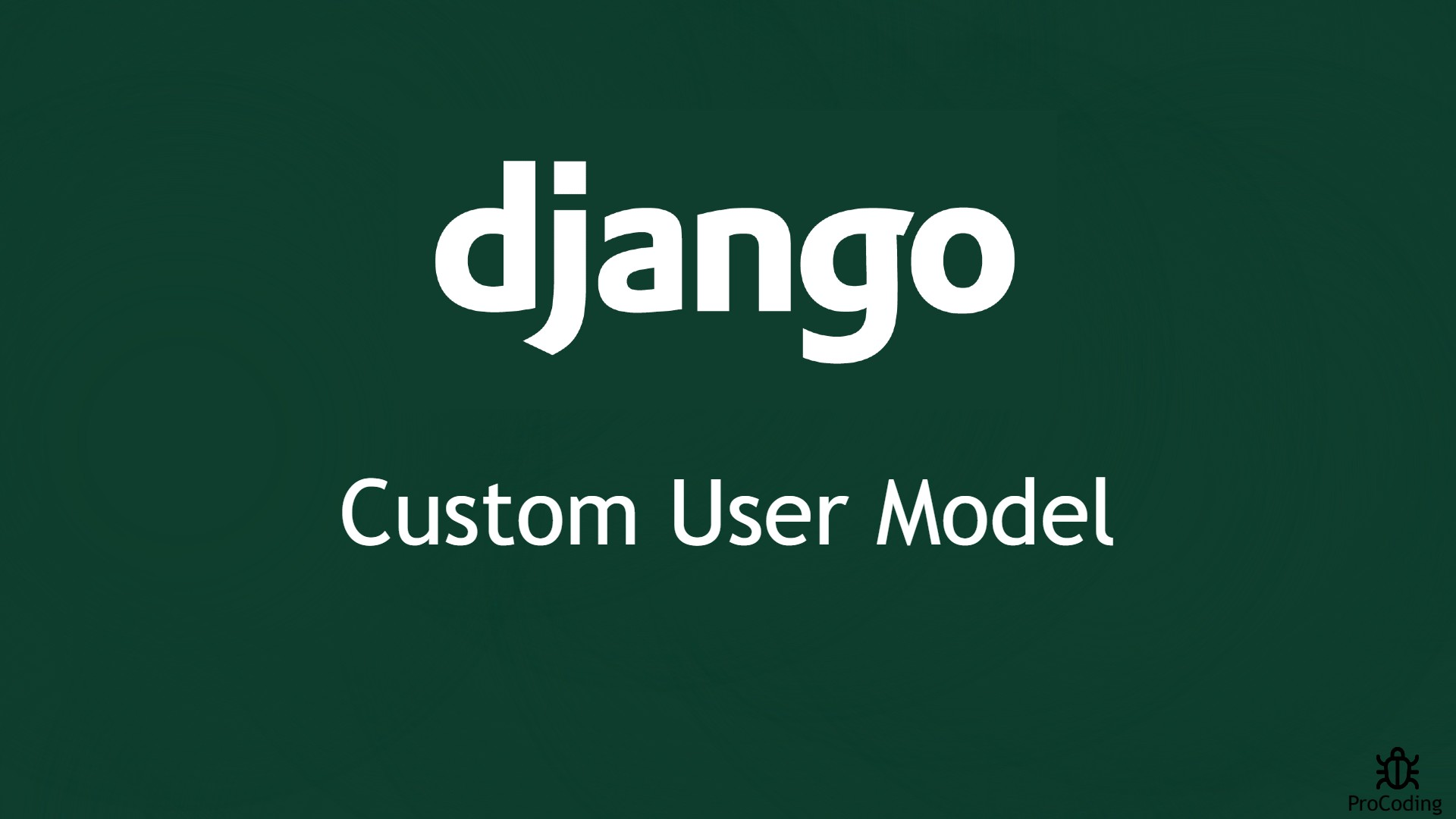 django custom user model