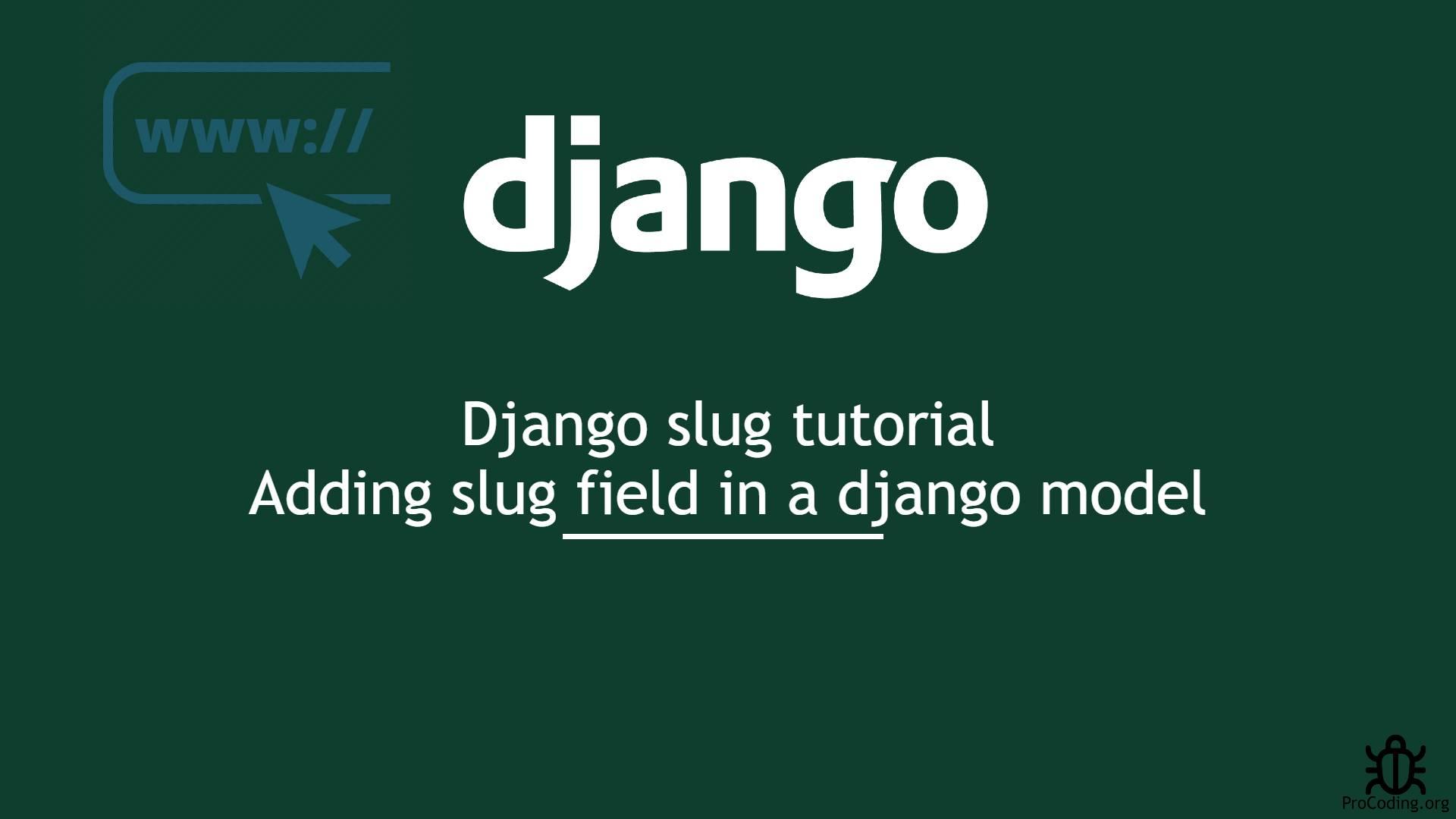 django slug tutorial